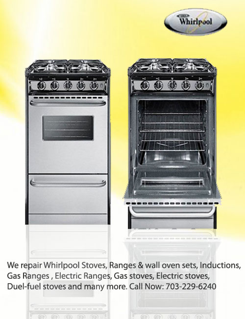 whirlpool cooktop and range repairs